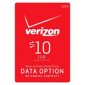 Interactive Communication Verizon $10 1GB Data Option for Basic and Smartphone Plans