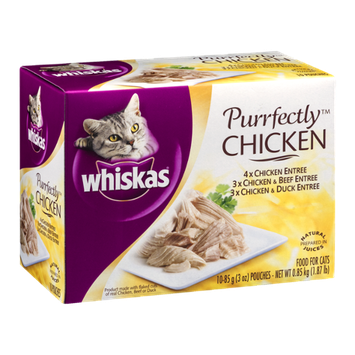 Whiskas Cat Food Purrfectly Chicken - 10 CT