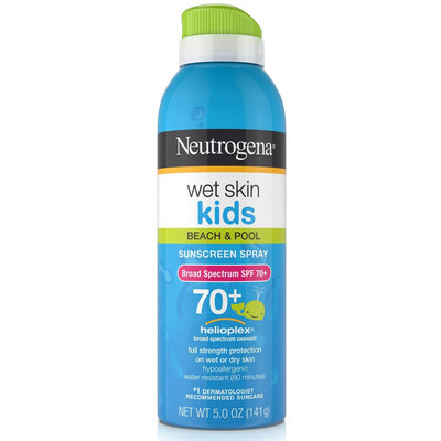 Neutrogena® Wet Skin Kids Sunscreen Spray Broad Spectrum SPF 70+