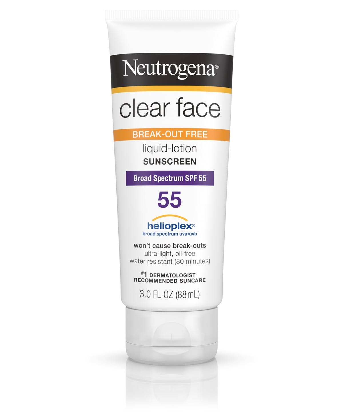 Neutrogena® Clear Face Break-Out Free Liquid Lotion Sunscreen Broad Spectrum SPF 55