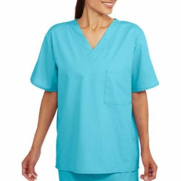 Unisex Short Sleeve V Neck Scrub Top with Pocket