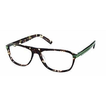 Cynthia Rowley No. 63 Black Tortoise Round Plastic Eyeglasses