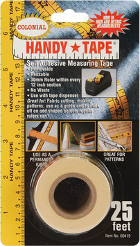 Colonial Needle Handy Tape Self Adhesive Measuring Tape 25 Feet