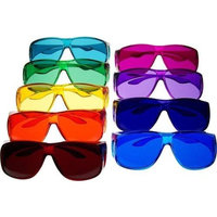 Biowaves Color Therapy Glasses Large Fit Over Style Set of 9 Colors Also Available in Set of 7 or 10