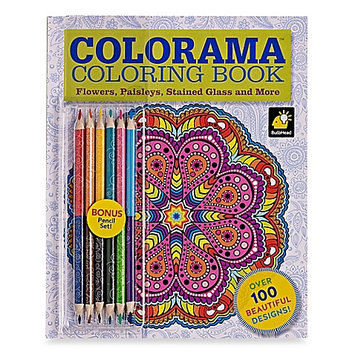 Colorama Coloring Book: Flowers, Paisleys, Stained Glass and More