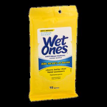 Wet Ones Antibacterial Hand Wipes - 15 CT
