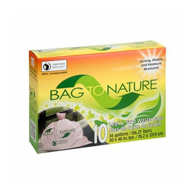 Bag To Nature Lawn and Leaf Biodegradable Waste Bags 10 Pack