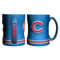 Boelter Brands MLB Cubs Set of 2 Relief Coffee Mug - 14oz