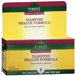 Finest Nutrition Diabetes Health Formula Multivitamin/Multimineral Supplement Caplets
