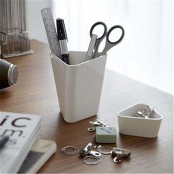 YAMAZAKI home 7943 3.3 x 3.6 in. Torsion Pen Stand Plus Tray - White