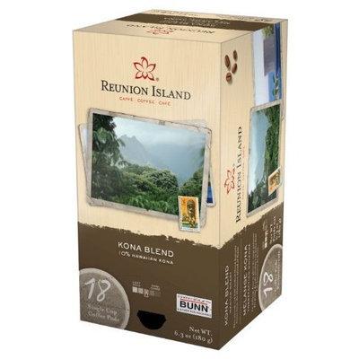 Reunion Island RI58012 Kona Blend Single Cup Coffee Pods, 18-count