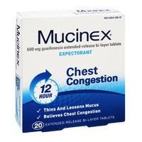 Mucinex 12 Hour Chest Congestion Extended Release Bi-Layer Tablets