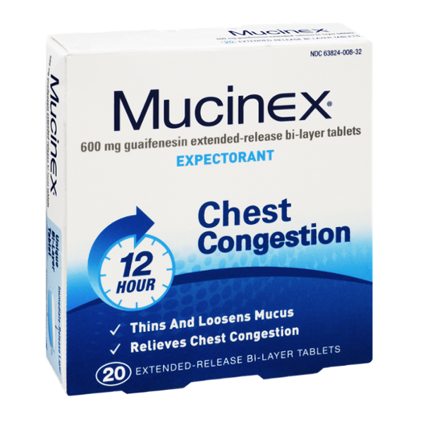 Mucinex 12 Hour Chest Congestion Extended Release Bi Layer Tablets