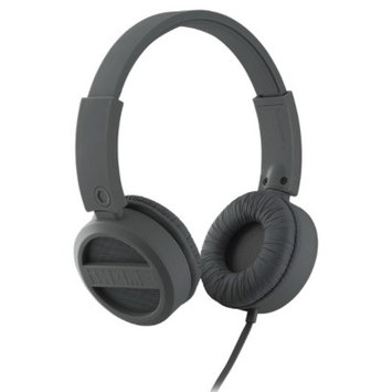 iHome Rubberized On-Ear Headphones - Gunmetal