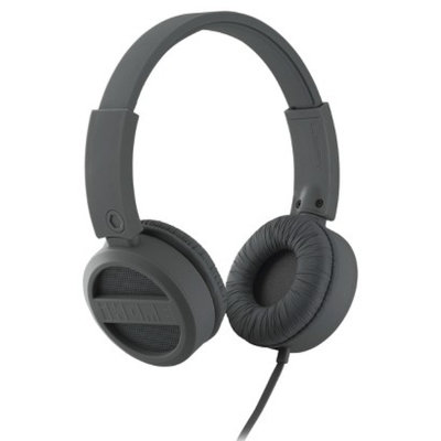 iHome Rubberized On-Ear Headphones - Gunmetal