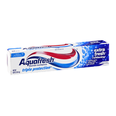 Aquafresh Triple Protection Extra Fresh +Whitening Fluoride Toothpaste Fresh Mint
