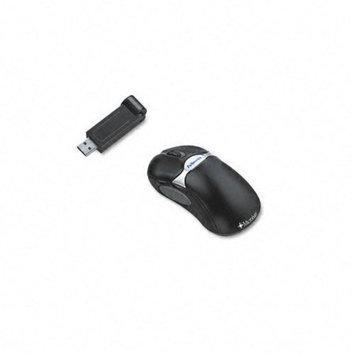 Fellowes Microban Cordless Five-Button Optical Mouse, Black/Silver