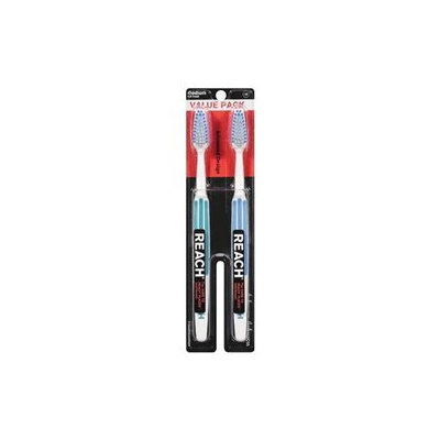 Reach Advanced Design Toothbrush, Value Pack, Medium, 2 ea
