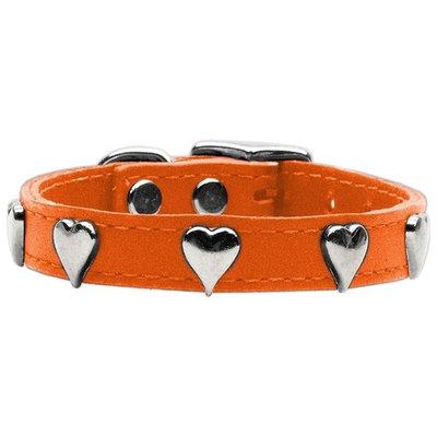 Mirage Dog Supplies Heart Leather Orange 12