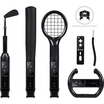 CTA Nintendo Wii Grand Slam 6-in-1 Sports Pack (Black)