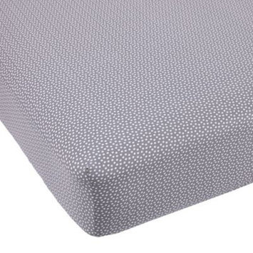 Balboa Baby Cotton Sateen Fitted Crib Sheet - Grey and White Dot