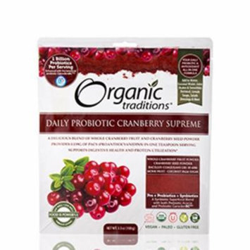 Daily Probiotic Cranberry Supreme - 3.5 oz (100 Grams) by Organic Traditions