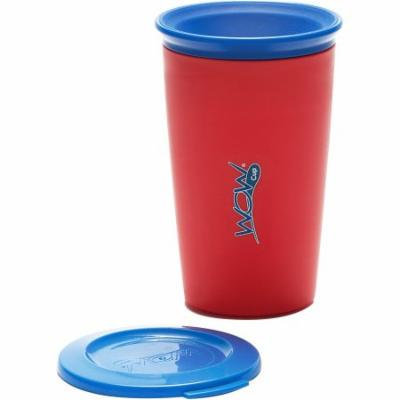 WOW Gear WOW Cup for Kids 360 Spill-Free Cup, Red/Navy