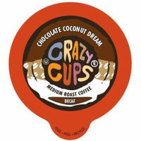 Crazy Cups Chocolate Coconut Dream Flavored Decaf Coffee Single Serve Cups, 22 count