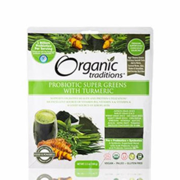 Probiotic Super Greens with Turmeric - 3.5 oz (100 Grams) by Organic Traditions
