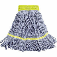 Boardwalk Super Loop Wet Cotton/Synthetic Mop Heads, Small, Blue, 12 count