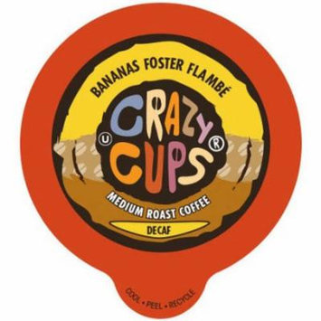 Crazy Cups Bananas Foster Flambe Flavored Decaf Coffee Single Serve Cups, 22 count
