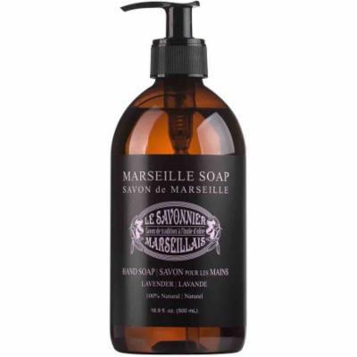 Le Savonnier Marseillais Lavender Liquid Hand Soap, 16.9 fl oz