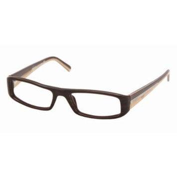 Prada Eyewear VPR23I Brown Combination 7QO Eyeglasses 51mm