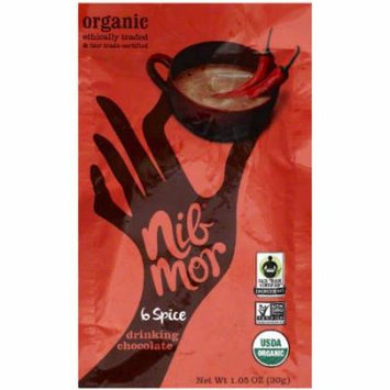 Nib Mor Spice Drinking Chocolate Mix, 1.05 oz, (Pack of 6)