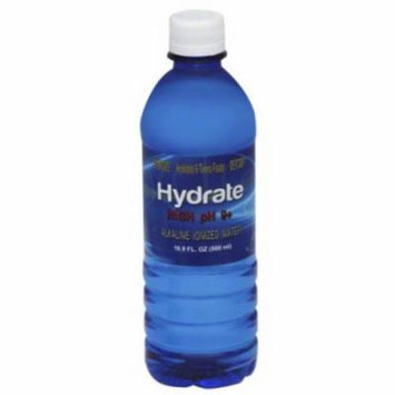 Hydrate High pH 9+ Alkaline Ionized Water, 16.9 fl oz (Pack of 24)
