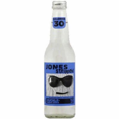 Jones Stripped Huckle Berry Soda, 12 fl oz, (Pack of 12)