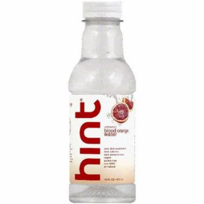 Hint Unsweet Blood Orange Water, 16 fl oz, (Pack of 12)