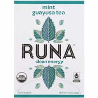 Runa Mint Guayusa Tea Bags, 16 count, 1.13 oz, (Pack of 12)