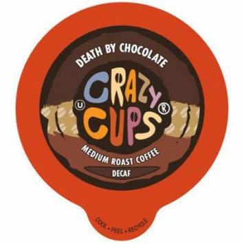 Crazy Cups Death by Chocolate Flavored Decaf Coffee Single Serve Cups, 22 count