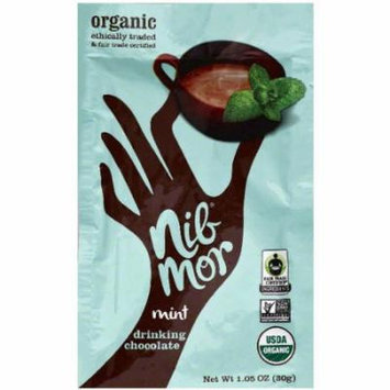 Nib Mor Mint Drinking Chocolate Mix, 1.05 oz, (Pack of 6)