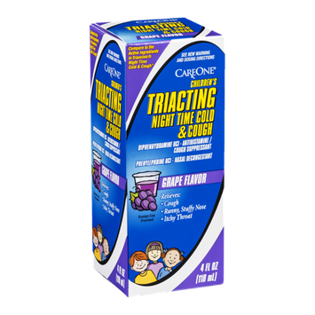 CareOne Children's Triacting Night Time Cold & Cough Grape