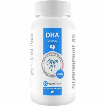 Carson Life Brain DHA Memory Dietary Supplement Capsules, 60 count