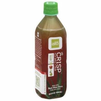 ALO Crisp Fuji Apple + Pear Aloe Vera Juice, 16.9 fl oz, (Pack of 12)