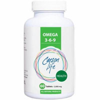Carson Life Beauty Omega 3-6-9 Dietary Supplement Tablets, 2,000mg, 60 count