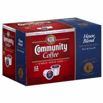 Community Coffee House Blend Coffee Single-Serve Cups, 4.65 oz, (Pack of 12)