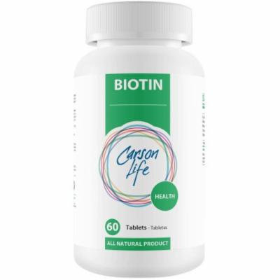 Carson Life Health Biotin Dietary Supplement Tablets, 60 count
