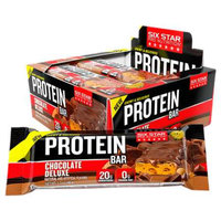 Six Star Chewy & Delicious Protein Bar 20g, Chocolate Deluxe, 9 ea