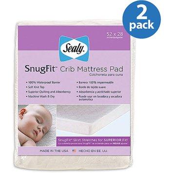 Sealy Baby - SnugFit Crib Mattress Pad, 2-Pack