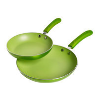 Bella Dots 2pk Nonstick Ceramic Fry Pan, Green - TABLETOPS UNLIMITED, INC.
