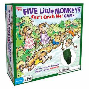 Five Little Monkeys Can't Catch Me Game Ages 3 and up